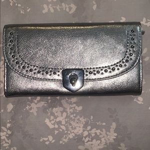 BRAND NEW WITH TAGS Cole Haan Silver Wallet
